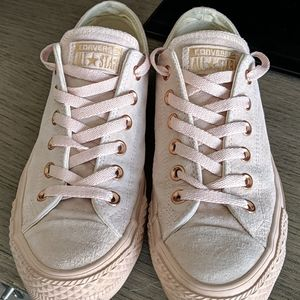 Converse Suede Light Pink and Rose Gold size 39